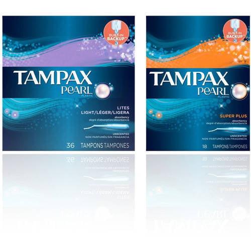 Tampax Pearl Tampons Premium Protection Bundle, Choice of 2