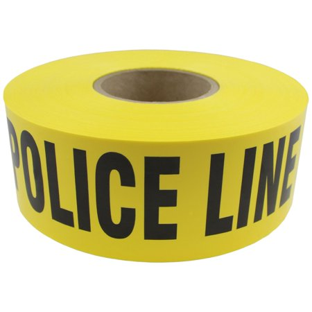 Do Not Cross Tape (Boston Industrial Barricade Yellow Tape: POLICE LINE DO NOT)