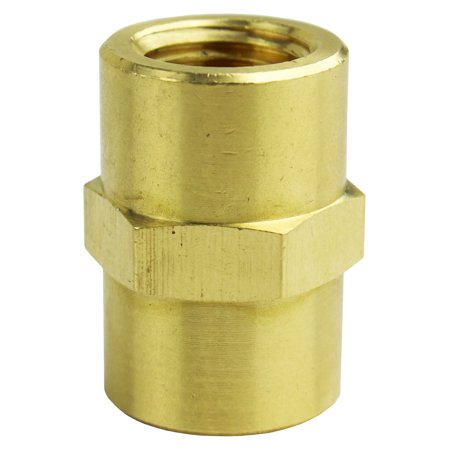 "1/4"" NPT Female Solid Brass Pipe Union Adapter Fitting WOG Solid Connector New"