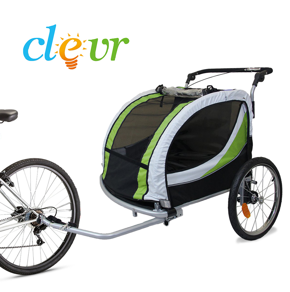 2-in-1 Pivoting collapsible 2-Seater Baby Stroller Jogger...