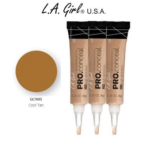 Pro Conceal HD 980 Cool Tan (6 Pack), Crease resistant, opaque coverage in a creamy yet light weight texture. By L.A. Girl
