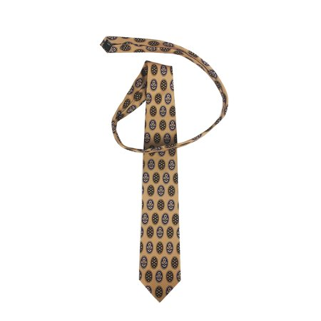 Bill Lumbergh Necktie Office Space Costume Tie Initech Lumberg Tan Patterned