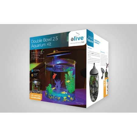 Double Bowl Glass Aquarium Kit - 2.5 Gallon ()