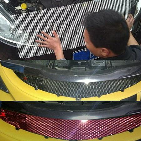 Aluminium Racing Grille Mesh Vent Car Tuning Body aluminium Grill Protection 100cm x 33cm - image 2 of 8