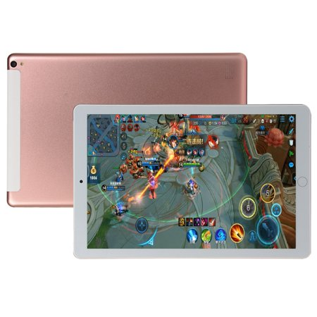 10.1 inch Tablet PC Octa Core Android 8.0 Dual SIM Phone Call Tab Phone PC Tablets Rose Gold AU plug