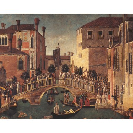 - Miracle Of The Relic Of The Cross On San Lorenzo Bridge Poster Print