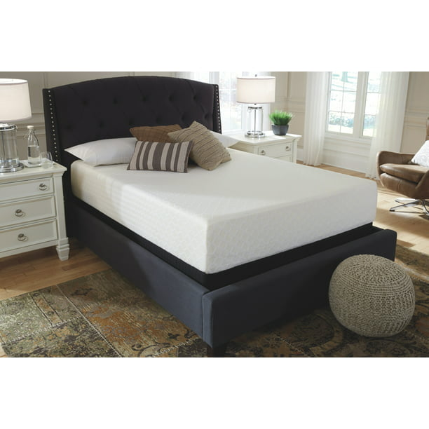 Signature Design By Ashley - Chime 12 Inch Memory Foam King Mattress - White