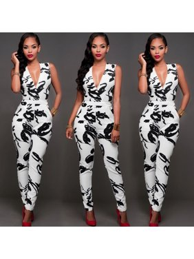 Sexy Womens Sleeveless Bandage Bodycon Jumpsuit Romper Trousers Evening Clubwear