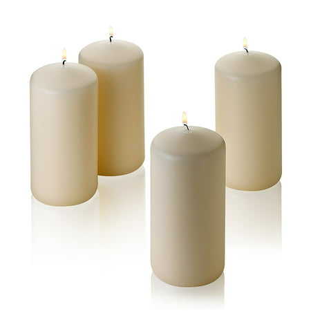 "1 French Vanilla Pillar Scented Candles 6"" Tall X 3"" Wide"