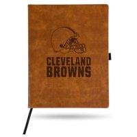 Cleveland Browns Sparo Laser Engraved Large Notepad - Brown