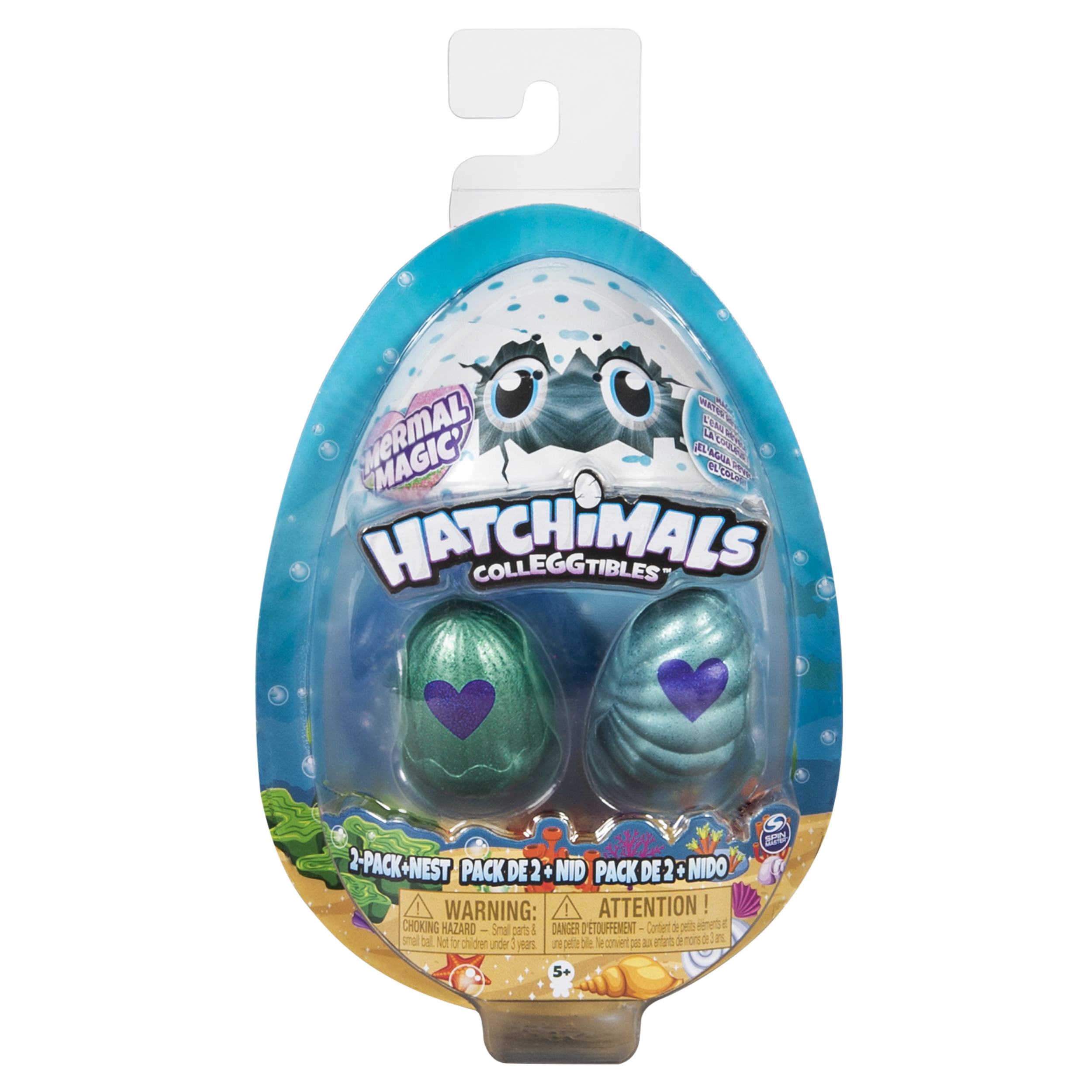 Hatchimals CollEGGtibles, Mermal Magic 2 Pack + Nest with Season 5 Hatchimals, for Kids Aged 5 and Up (Styles May Vary)