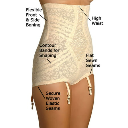 Women's Rago 6107 Lacette No Roll High Waist Brief (White 6X) - image 2 de 4