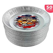 "Pactogo 12"" Aluminum Foil Pie Pan Extra-Deep Disposable Tin Plates (Pack of 50)"