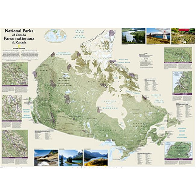 National Geographic Maps RE01020683 Canada National Parks Wall Map - Laminated