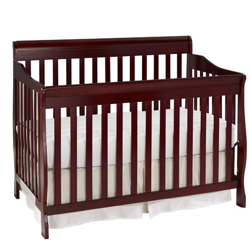 Baby Time International, Inc. Big Oshi Stephanie 4-in-1 Convertible Crib with Mattress