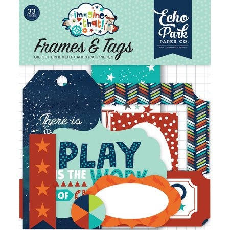 - Imagine That Boy Cardstock Die-Cuts 33/Pkg-Frames & Tags