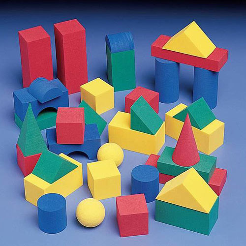 School Smart Foam Geometric Solids, 36-Piece