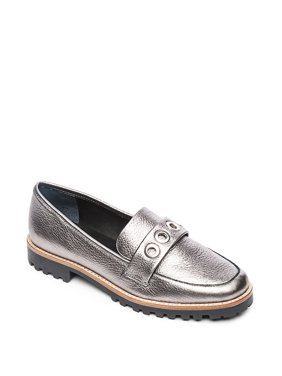 Ozzy Textured Leather Loafers