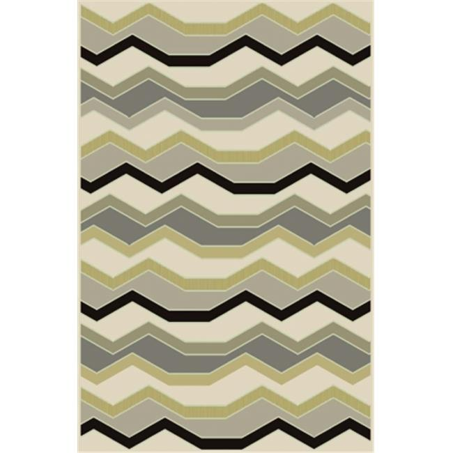 Central Oriental 9001MI58.061 Paris Citron 061 Noah Multi Color 100 Percent Heat Set Polypropylene Rug - 5 x 7 ft. 6 in.