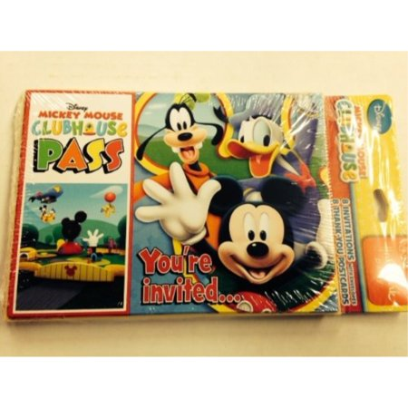 Mickey Mouse 'Playtime' Invitations and Thank You Notes w/Envelopes (8ct ea.) - Mickey Mouse Birthday Photo Invitations