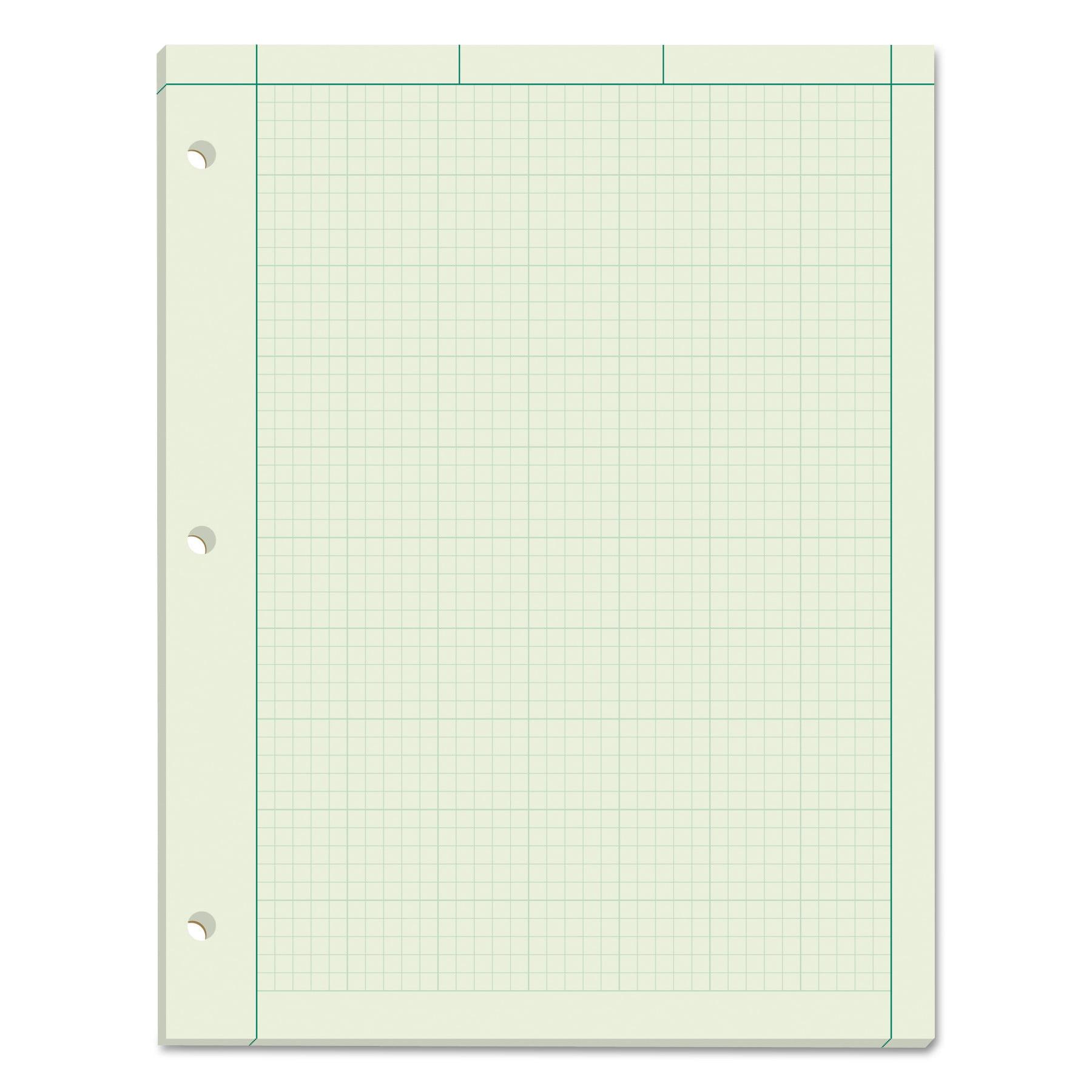 TOPS Engineering Computation Pad, 8 1/2 x 11, Green, 100 Sheets -TOP35500