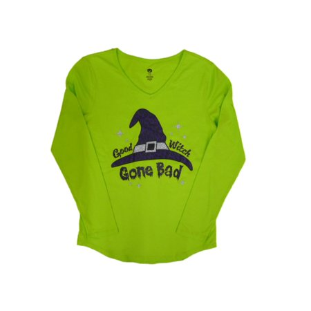 Happy Halloween Womens Neon Green Good Witch Gone Bad T #2: e08db357 948e 441f 907b 336da91e2eb5 1 e aa26dd376d6ed6ed747aa0f odnHeight=450&odnWidth=450&odnBg=ffffff