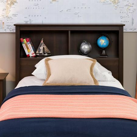 Edenvale Twin Storage Headboard, Espresso - Prepac Furniture