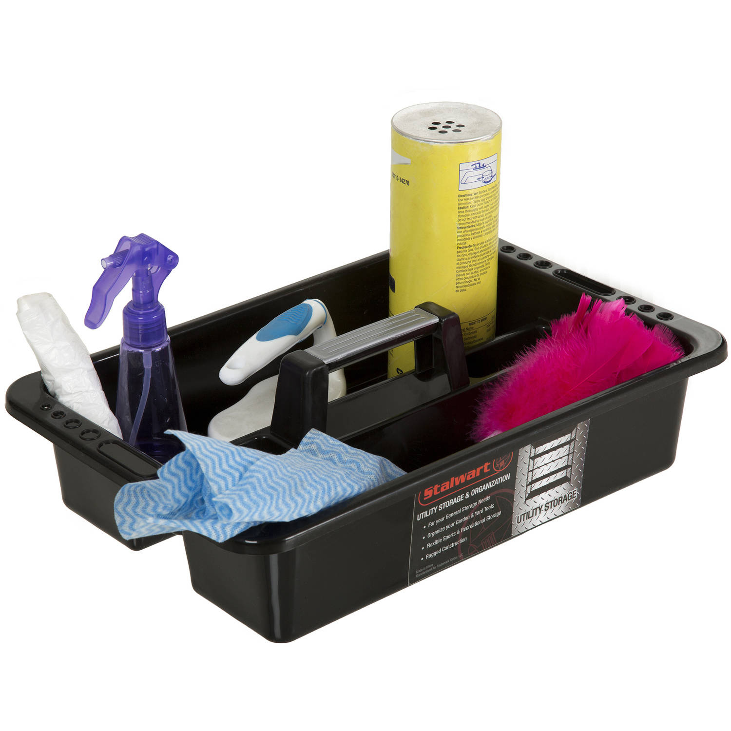 Stalwart Portable Plastic Utility Tool and Supply Caddy, Black