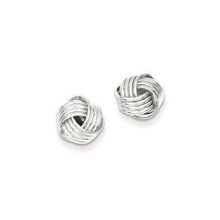 .925 Sterling Silver 10 MM Love Knot Post Stud Earrings MSRP $31