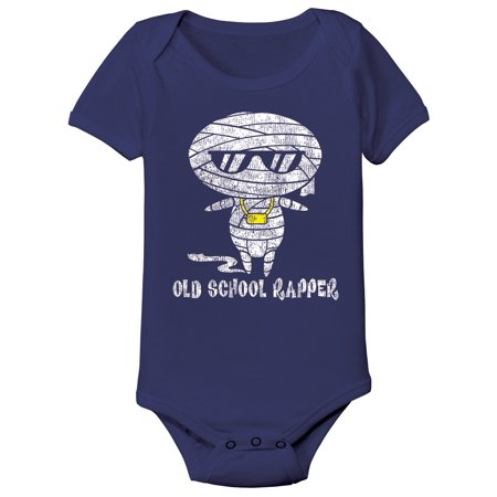Navy Blue Old School Rapper Funny Mummy Baby Infant One - Old Navy Infants