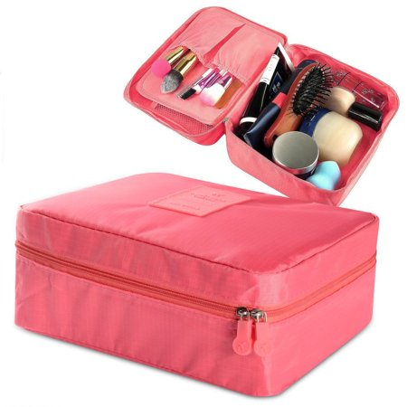 Cosmetic Bag Cosmetic Case Makeup Bag by Zodaca Large Cosmetic Bag Case Organizer for Travel Makeup Storage Pouch (Cosmetic Organizer Case)