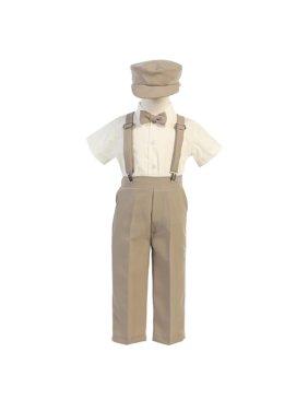445428052de0 Product Image Lito Baby Boys Khaki Suspender Pants Hat Outfit Set 6-12M. Sophias  Style