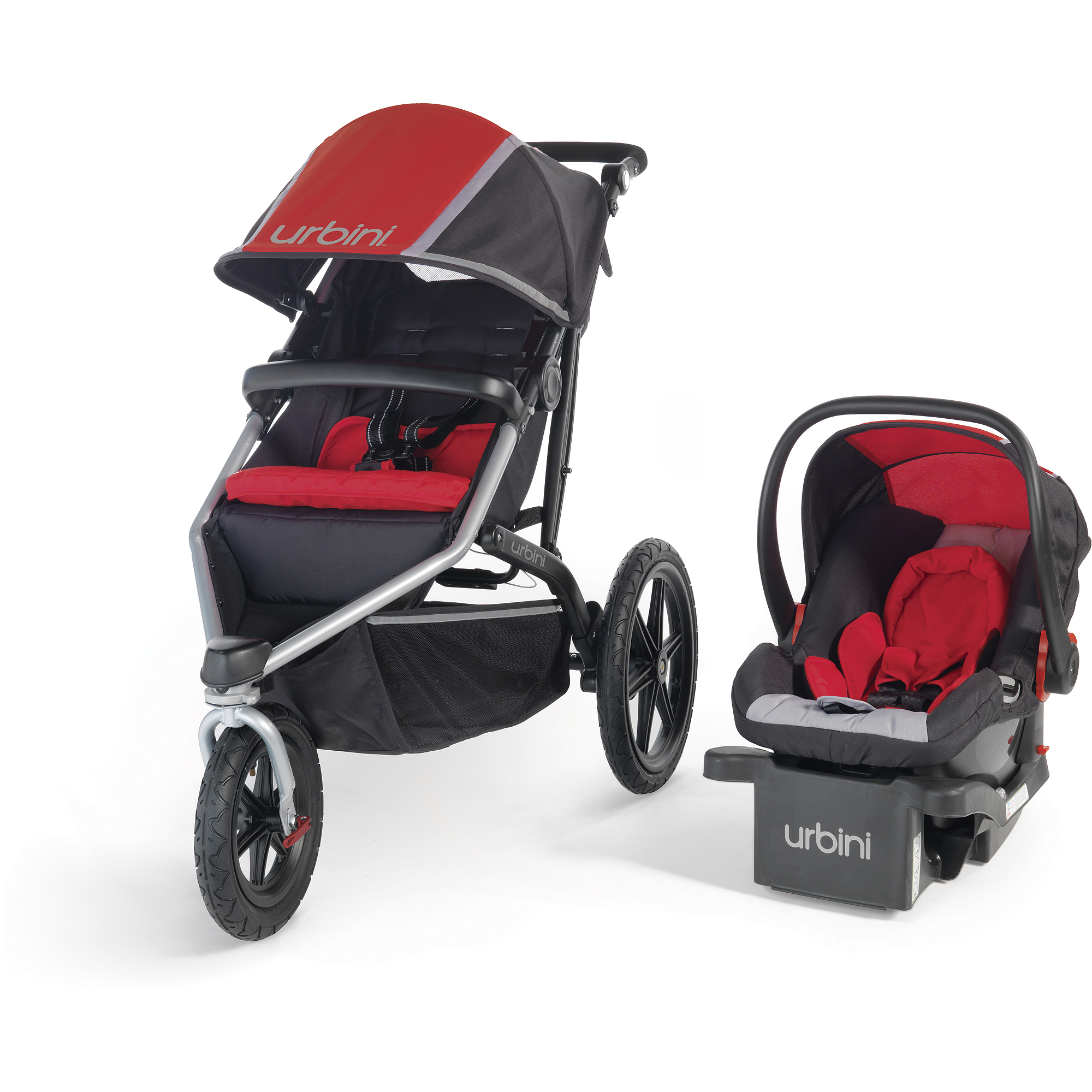 Urbini Avi Jogger Travel System, Red