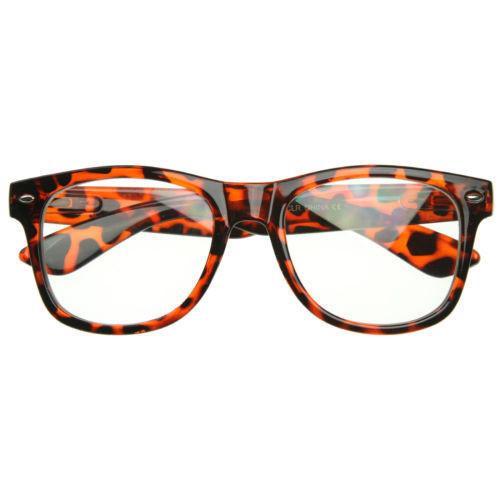 Nerdy Glasses Nerd Clear Sunglasses Halloween Costume Chuckie Finster Garth Eye