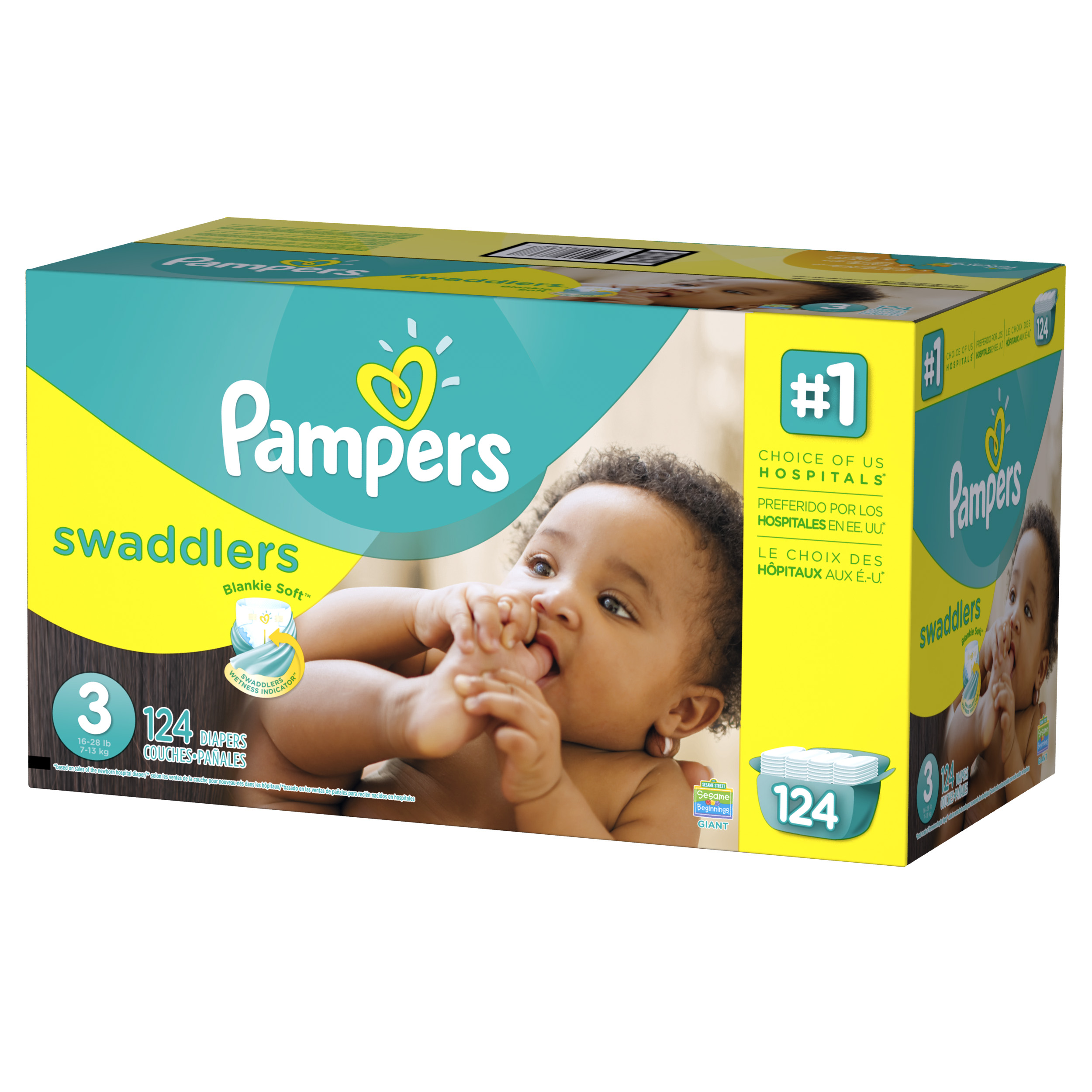 Pampers Swaddlers Diapers Size 3 124 count