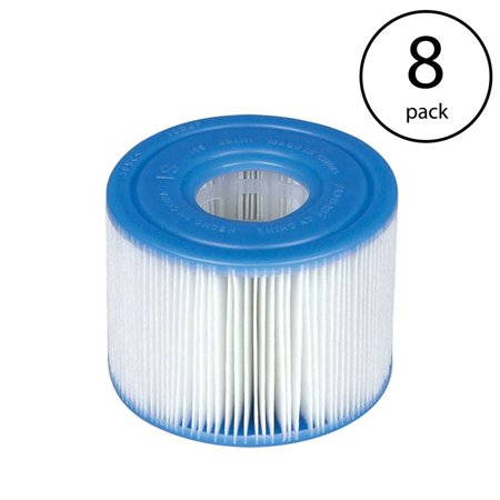 Intex PureSpa Type S1 Easy Set Pool Filter Replacement Cartridges (8 Filters) - image 7 of 7