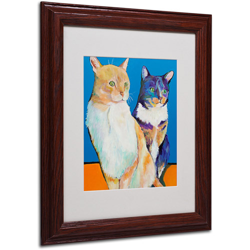 "Trademark Fine Art ""Dos Amores"" Matted Framed Art by Pat Saunders"