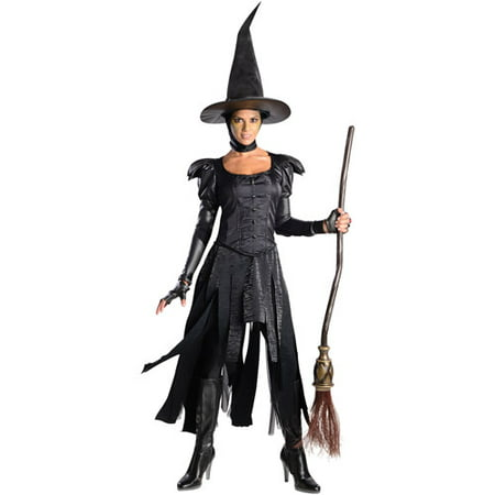 Wizard of Oz Witch Adult Halloween Costume - Half Witch Halloween Makeup