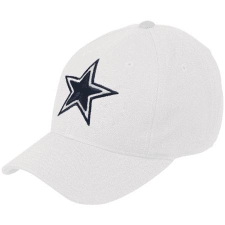 Dallas Cowboys White Basic Logo Wool Hat - No Size Nfl Reebok Visor Hat
