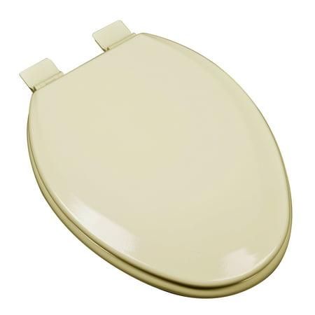 Bathdecor Premium Almond Molded Elongated Wood Toilet Seat