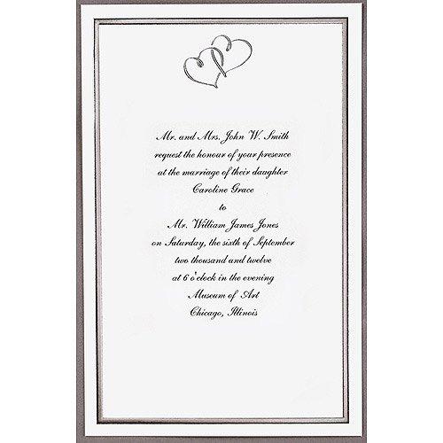9a1d5b24a6c8 Wilton Silver Sweetheart Invitations