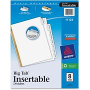 Big Tab Insertable Dividers - Reinforced Gold Edge