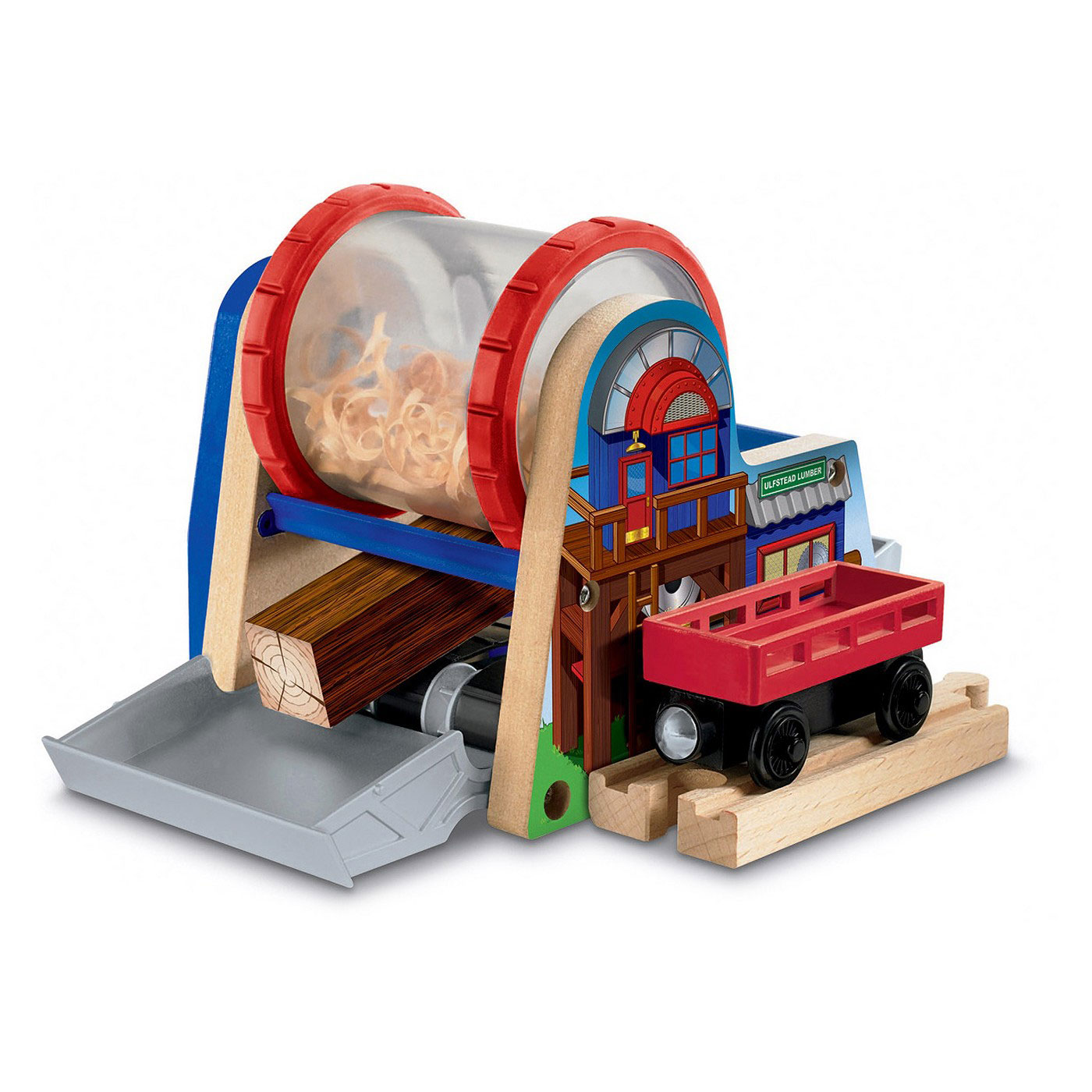 Fisher Price Thomas and Friends Wooden Train Railway Chopped Log Wood Chipper
