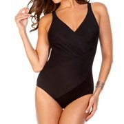 Miraclesuit 364188 Must Haves Oceanus Side Wrap One Piece Swimsuit