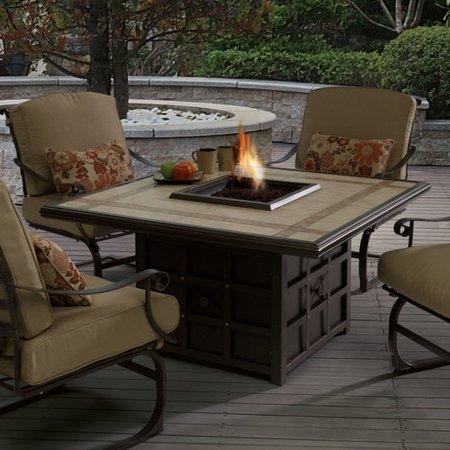 Wildon Home Antoine Wrought Iron Propane Fire Pit Table Walmartcom - Wrought iron fire pit table