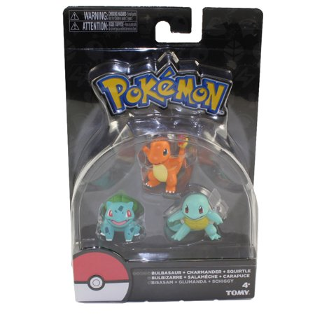 Pokemon Tomy Figures 3-Pack - GENERATION 1 STARTERS (Bulbasaur, Charmander & Squirtle)(2 (Best Starter Pokemon In All Generations)