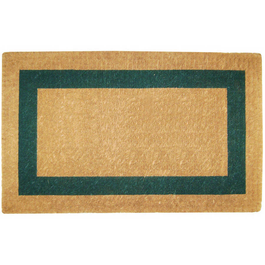 Heavy-Duty Coco Mat Green Single Picture Frame, Plain