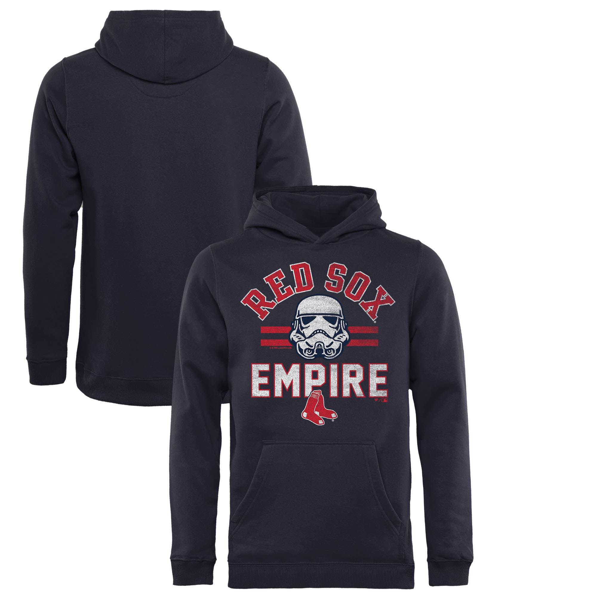 Boston Red Sox Fanatics Branded Youth MLB Star Wars Empire Pullover Hoodie - Navy