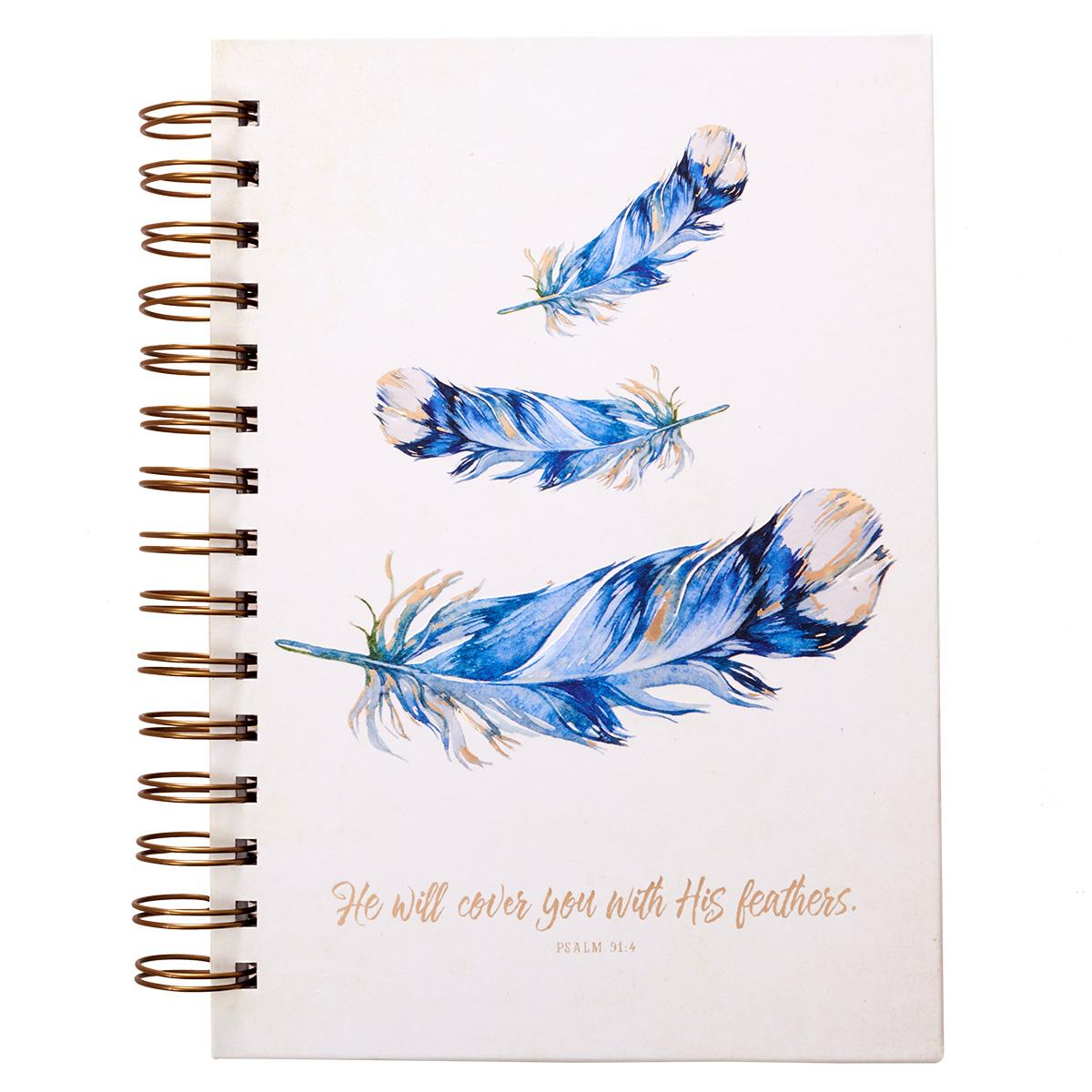 He Will Cover You - Psalm 91:4 Wirebound Journal