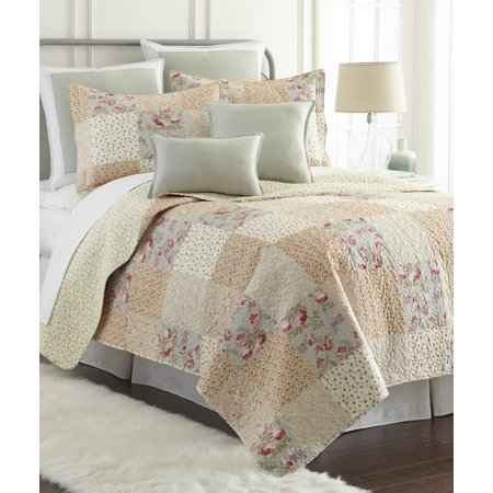 (Sherry Kline Riverside Printed Cotton 3-piece Quilt Set)